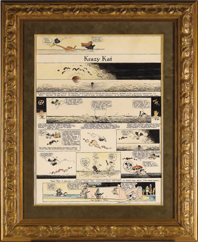 Hand-Colored George Herriman Krazy Kat Sunday from Heritage Online Auctions