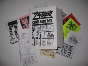 24 Hour Comic Day 2007 Box (open)