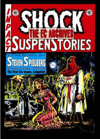 Cover to a volume of Russ Cochran's Shock Supenstories reprint series