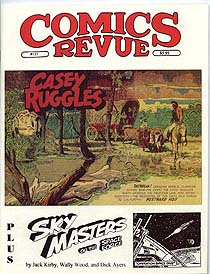 Cover to an issue of Manuscript Press' Comics Revue Magazine