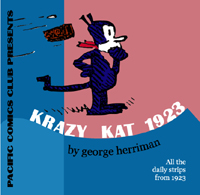 Cover to Pacific's Krazy Kat Dailies 1923